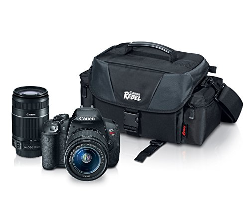 Cheapest Price! Canon EOS Rebel T5i with EF-S 18-55mm f/3.5-5.6 IS II Lens, EF-S 55-250mm f/4.0-5.6 ...