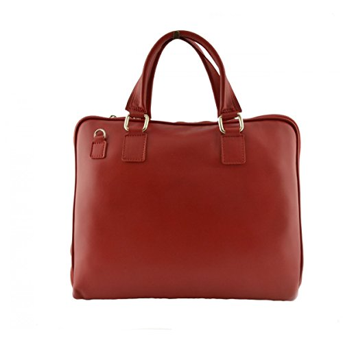 Cartella Porta Documenti Donna In Vera Pelle Colore Rosso - Pelletteria Toscana Made In Italy - Business