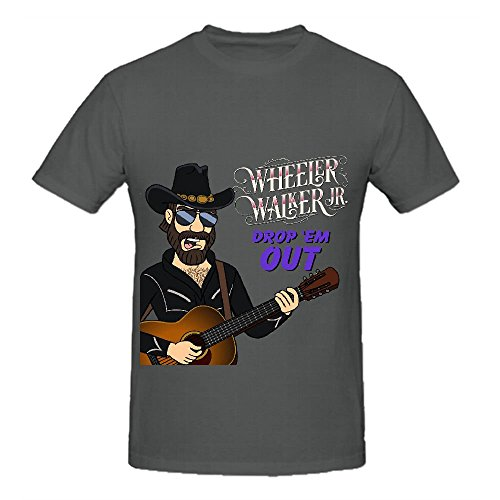Wheeler Walker Jr Drop 'em Out Rock Mens Crew Neck Slim ...