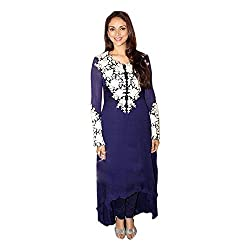 Pulp Mango Media's Exclusive Designer Festive Wear Collection Of Fine Georgette with Thread Embroidery Work on the top with inner and Bottom Santoon with Chiffon Dupatta Dress Material to make you look stunning this season. High on Glamour, Style and Look. Best Outfit to sizzle you at the Festival. Limited Stock.