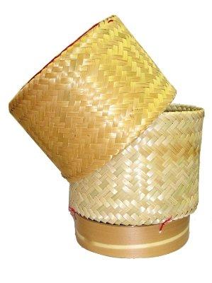 thai-handmade-sticky-rice-serving-basket-medium-cookware-kitchen-tool-handmade