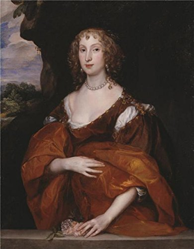 High Quality Polyster Canvas ,the High Quality Art Decorative Canvas Prints Of Oil Painting 'Anthony Van Dyck - Portrait Of Mary Hill, Lady Killigrew,1638', 24x31 Inch / 61x78 Cm Is Best For Home Theater Decor And Home Decoration And Gifts (Low Profile Bedside Lamp compare prices)