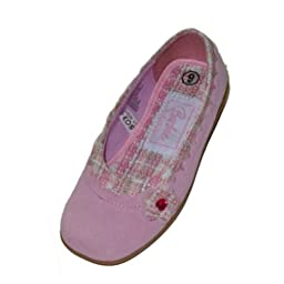 Toddler Girls Pink Suede Barbie Mary Janes Ballet Flats