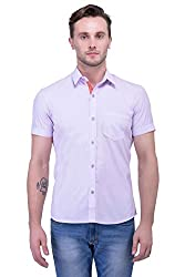 Trendster Off-White Solid Half Sleeve Casual Men's Shirt