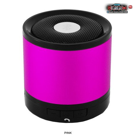 Micro Boom Wireless Bluetooth Speaker & Speaker Phone (Pink)