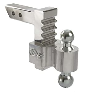 "Andersen Manufacturing 3410 - 6"" Drop/Rise Aluminum Rapid Hitch with 2"" x 2-5/16"" Plated Steel Combo Ball"