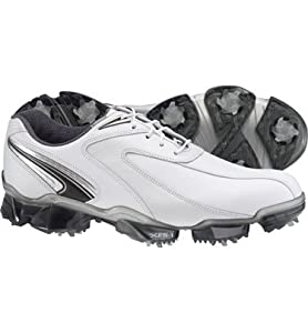 FootJoy Mens XPS-1 Golf Shoes : White-Pearl Wide 10