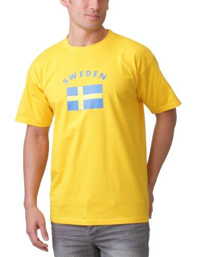 Coole-Fun-T-Shirts Herren  SCHWEDEN T-SHIRT MIT