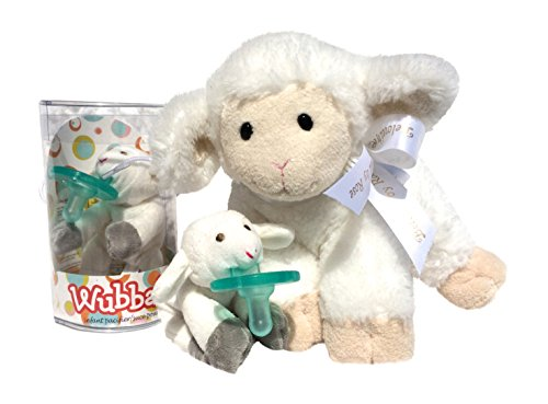 """""""Jesus Loves Me"""" Musical Baby Plush Lamb Toy & """"God Bless"""" Lamb Infant Pacifier front-85143"""
