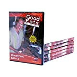 GOOD EATS 12-Pack Alton Brown DVD's Food Network, 12 DVD SET, 36 FULL EPISODES!