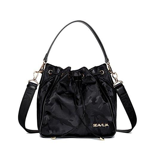 Borsa a secchiello/borsa a tracolla Incline/Semplice donna canvas shoulder bag/ borsa shopping in nylon per il tempo libero-B