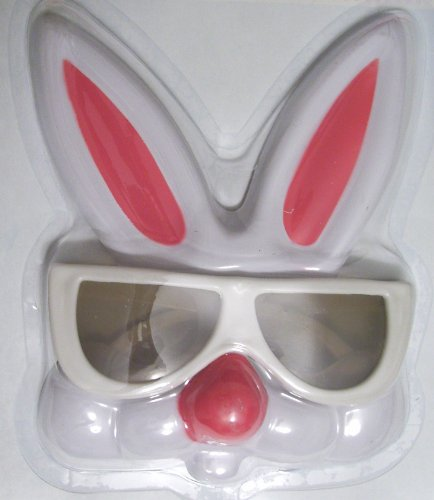 Easter Bunny Costume Glasses, Bunny Glasses, WHITE
