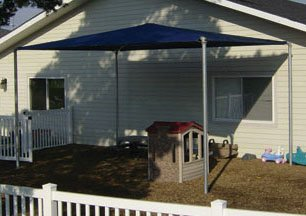 Shade Shelter - Galvanized Posts 12 x 12