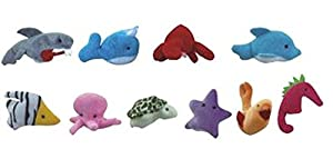 10PCS A SET Finger Puppet/Dolls/Toys Story-telling Props/Tools Toy Model Babies/Kids/Children Toys,Marine animals