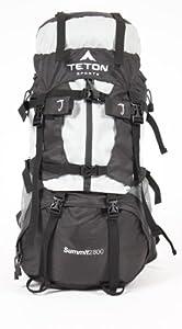 "TETON Sports Summit2800 Ultralight Internal Frame Backpack (33""x 17""x 12"", Silver)"