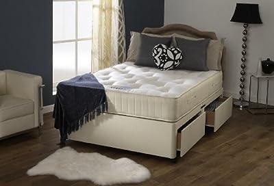 Happy Beds Ortho Royale Divan Bed Set Orthopaedic Mattress 2 Drawers 3' Single 90 x 190 cm