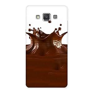 Impressive Chocolate Splash Brown Back Case Cover for Galaxy Grand 3