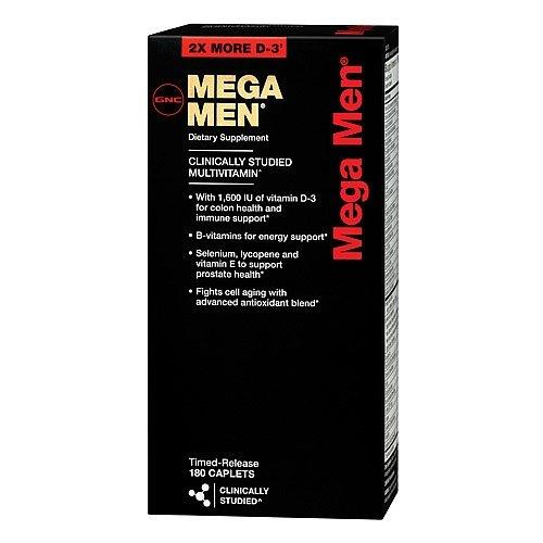 GNC Mega MEN Multivitamin 180 Caps NEW Formula