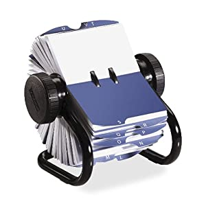 amazon   rolodex 67236 rolodex open rotary business card file 200 sleeves 400 card cap 24