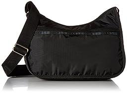 LeSportsac Classic Hobo Handbag,Black,one size