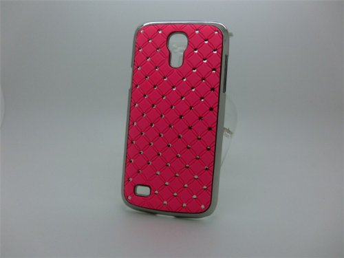 Maclogy 2014 Latest Fashion Design Luxury Dazzling Rhinestones Shiny Crystal Diamond Plating Protective Shell Trapped Difficult Cases Samsung Galaxy S4 I9500 And Fashion Chain Crystal Ornaments Color Uv Radiation Gifts (Pink)