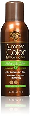 Banana Boat Self-Tanning Spray - Airbrush Summer Color for All Skin Tones, Fresh Citrus - 5 Ounce (Pack of 3)