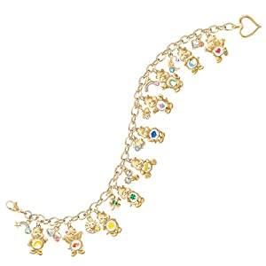Collectible Care Bears Ultimate Charm Bracelet With Swarovski Crystals by The Bradford Exchange