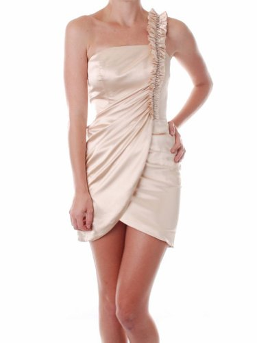 LnLClothing Ladies Fashion Tulip Skirt Dress,Cream,Medium