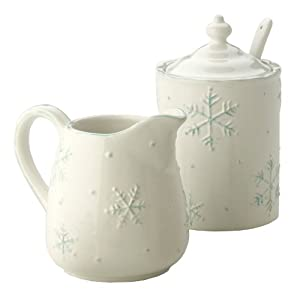 Amazon.com: October Hill Ceramic Snowflake Collection Cream and