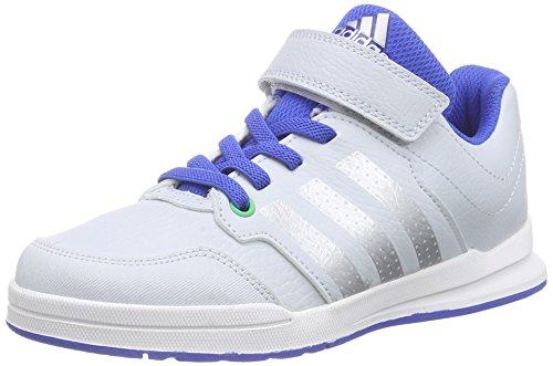 adidas PerformanceJan BS 2 - Scarpe da Basket Unisex - Bambini , Bianco (Weiß (Clear Grey S12/Silver Met./Blue)), 29