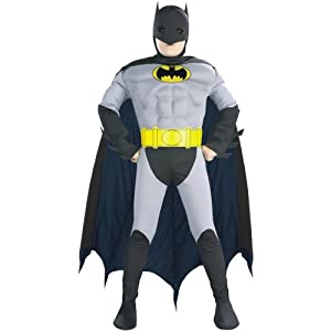Batman with Muscle Chest Child Costume - Kid's Costumes,small