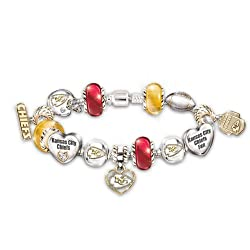 NFL Kansas City Chiefs #1 Fan Charm Bracelet: Go Chiefs! by The Bradford Exchange