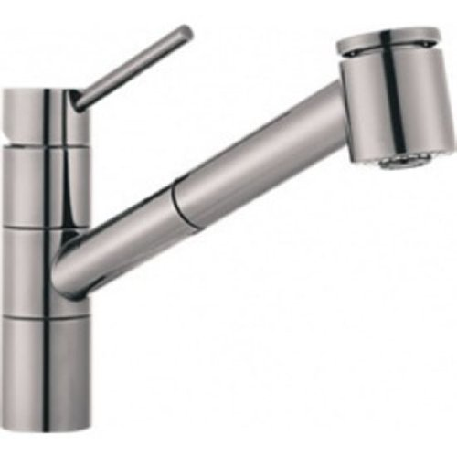 Franke FF2080 Top Lever Pull-Out Sprayer Faucet: Stylox Satin Nickel