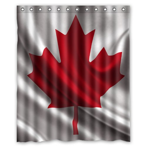 Canadian Flag Of Canada Shower Curtain 60 x 72 Inch Bathroom (Canada Shower Curtain compare prices)