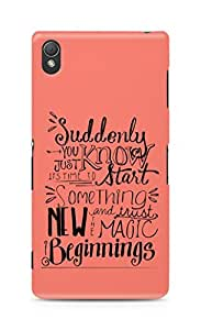 AMEZ start something new and the magic begins Back Cover For Sony Xperia Z3