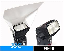 JJC PD-4B Flash Diffuser / Flash Bounce Card for Canon Nikon Universal Flashes