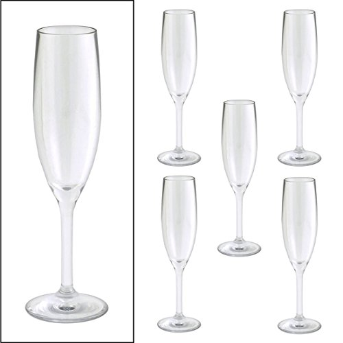Champagne Flute, Clear, 5 oz., PK 12