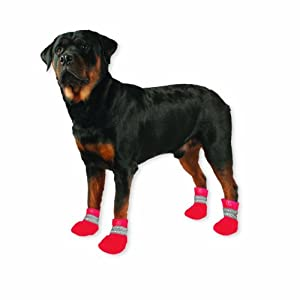 Paw Tectors by Pedigree Perfection International Inc. Water Proof Boot, Large, Red