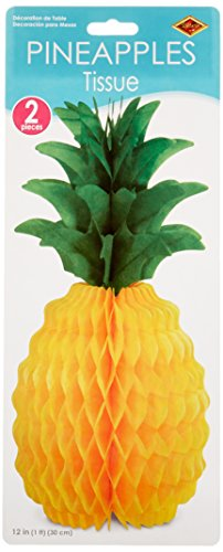 Beistle 55105-12 2-Pack Packaged Tissue Pineapples, 12-Inch (Fruit Party compare prices)