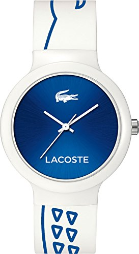 Lacoste 2020094 - Reloj de pulsera Unisex, Silicona, color Blanco roto