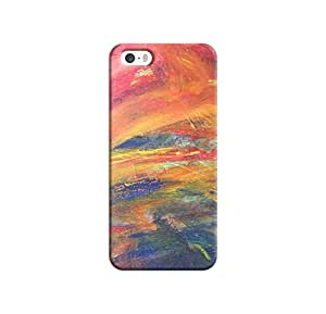Kawach Case/Back Cover for Apple iPhone 5/5S - Pastel Tones Printed Case