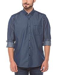 Shuffle Men's Casual Shirt (8907423017412_2021510803_Medium_Blue)