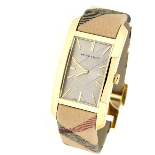 Burberry Burberry Damenuhr Burberry Check Beige gold BU9407