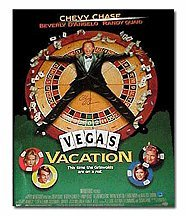 Chevy Chase Autographed Vegas Vacation Movie Poster
