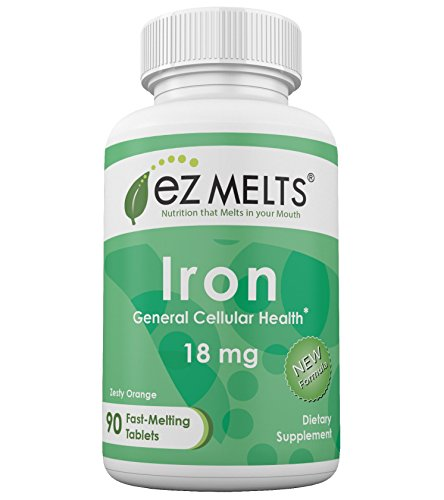 EZ Melts Iron Tablets, 18 mg, Orange, 90 Count (Iron Chewable compare prices)