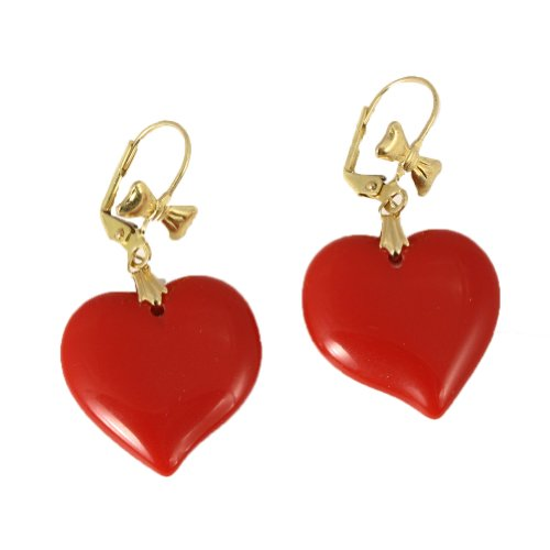 Love Drop Heart Earrings