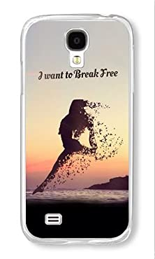 buy Phone Case Custom Samsung Galaxy S4 I9500 Phone Case I Want To Break Free Transparent Polycarbonate Hard Case For Samsung Galaxy S4 I9500 Case