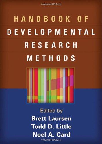 Handbook of Developmental Research Methods