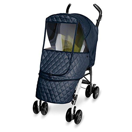 Manito-Castle-Alpha-Cover-Abdeckung-fr-Kinderwagen-und-Sport-Kinderwagen-Regenabdeckung-Wind-Wetter-Schild-fr-den-Auen-Bummeln-Augenschutzweit-Windows-Navy