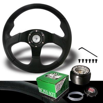 1990-1997 Mazda Miata Jet Black Steering Wheel with Hub Adaptor (Mazda 323 Steering Wheel compare prices)